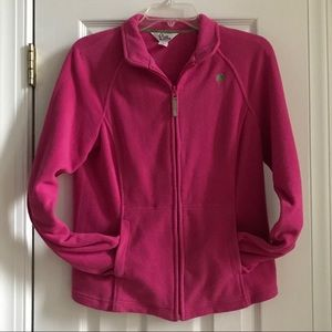 LILLY PULITZER Hot Pink Fleece Jacket size M